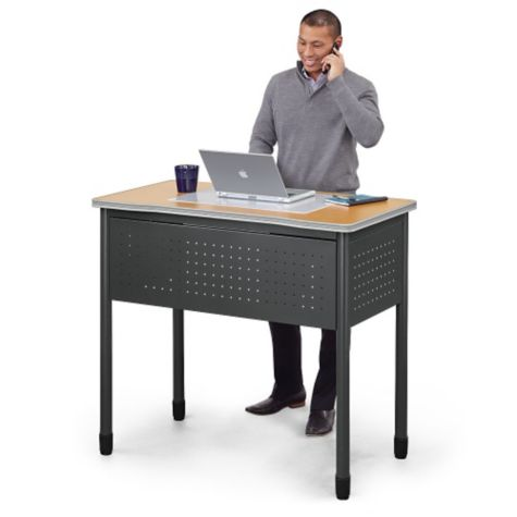 "Work easily while standing (47""W unit shown)"