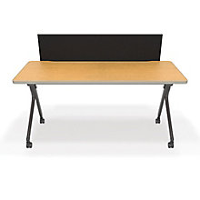 "Mesa Nesting Training Table with Privacy Panel - 59""W x 23""D , 8804321"