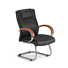 Apex Executive Leather Guest Chair, 8810593