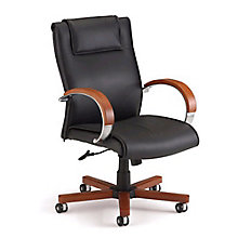 Apex Leather Mid-Back Chair, 8810601