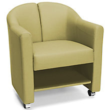 McAlister Vinyl Lower Shelf Mobile Club Chair, 8813939
