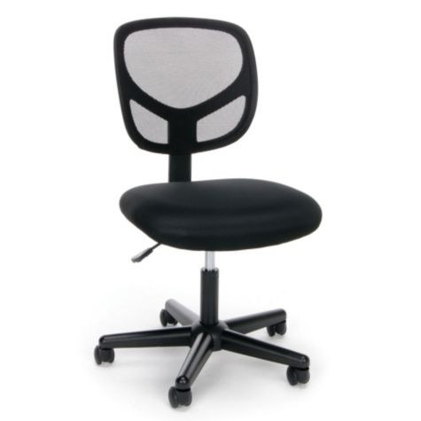 essentials simple armless mesh back task chair. Black Bedroom Furniture Sets. Home Design Ideas