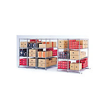 "Space-Saving Storage Track - Set of Five Mobile Shelves 36""W x 18""D., 8810125"
