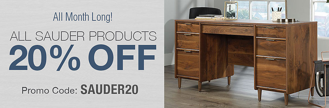 20% Off All Sauder Products