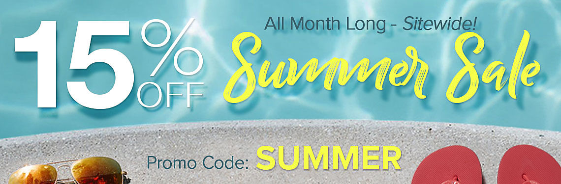 15% Off Summer Sale!