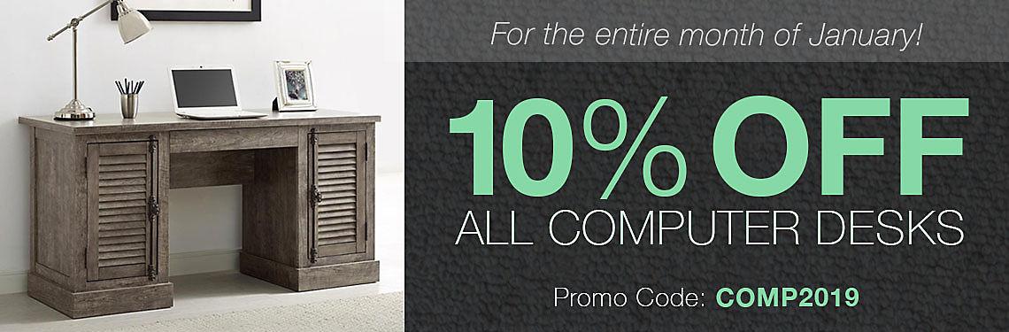 Save 10% on computer desks