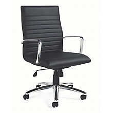Modern Task Chair in Faux Leather, OTG-10587