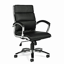 Modern Tufted Faux Leather Executive Chair, OTG-11648B