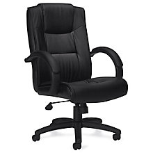 Lucia Bonded Leather Executive Chair with Integrated Headrest, 8814083