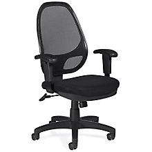 Atwater Mesh Back Mesh Fabric Seat Task Chair with Adjustable Arms, 8814051