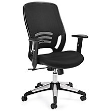 Atwater Mesh Back Mesh Fabric Seat Task Chair with Adjustable Arms, 8814056