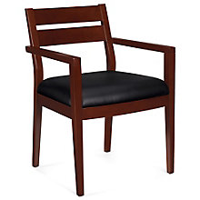 Chambers Bonded Leather and Wood Guest Chair, 8814068
