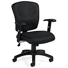Astor Fabric Computer Chair with Adjustable Arms, 8814069