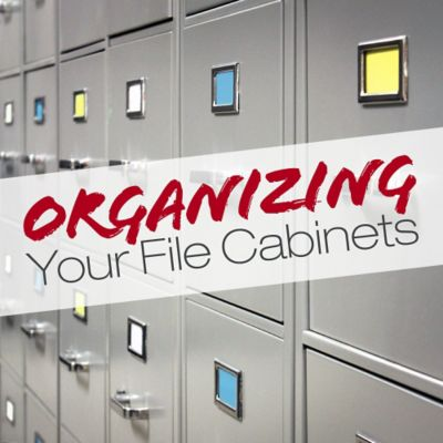 Tips On Organizing Your File Cabinets