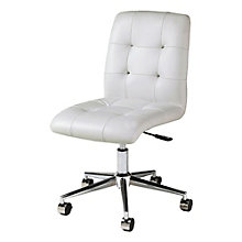 Hoquiam Armless Office Chair in Faux Leather, PAE-10779