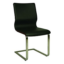 Charlize Wood Back Conference Chair in Faux Leather, PAE-10801