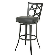 Villa Metro Counter Height Bubble Back Barstool in Faux Leather, 8803245