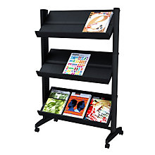Three Shelf Mobile Literature Rack, PAF-253N02