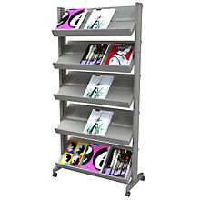 Five Shelf Mobile Literature Rack, PAF 255N02