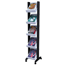 Narrow Five Shelf Literature Rack, PAF-259N02
