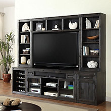 """Hudson Media Wall with Hutches- 105""""W, 8805005"""