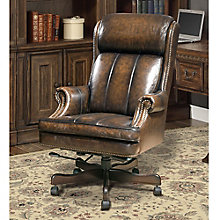 Prestige Desk Chair with Nailhead Trim in Leather, 8803786