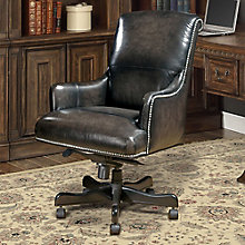 Prestige Desk Chair With Nailhead Trim In Leather 8803787