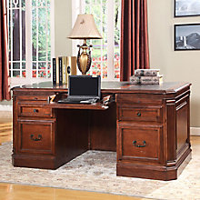 "Wellington Double Pedestal Desk - 66""W, 8803793"