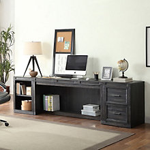 "Hudson Minimalist Desk with Storage Units - 105""W, 8805006"