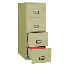 "Fireproof Four Drawer Vertical File - 25""D, PHS-LGL4W25"
