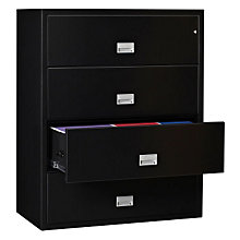"44"" W x 23.5"" D Fireproof Four Drawer Lateral File, PHS-LAT4W44"