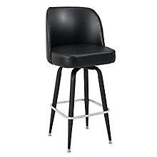 Bucket Backed Four Leg Vinyl Barstool with Black Frame, 8813938