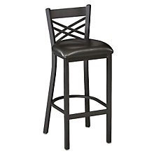 Cross-Back Break Room Stool, PHX-230BHBK