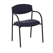 Contemporary Stack Chair with Upholstered Seat and Back, PHX-DLM200BK