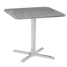 "Stainless Steel Outdoor Dining Table - 32"" Square, PHX-LR3232CMX"