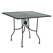 "Metal Outdoor Café Table - 36"" Square, PHX-OF3636MMBK"