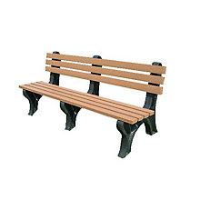 Recycled Plastic Outdoor Bench - 6'W, POR-ASM-EM6B-01