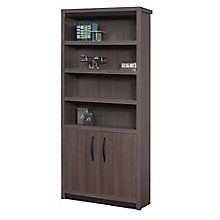 Paladin Six Shelf Bookcase with Doors, 8807823