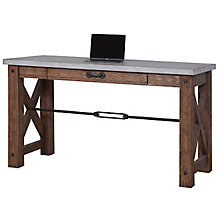 "Paxton Spur Writing Table with Faux Concrete Top - 60""W, 8807811"