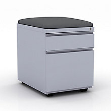 "EZ Lift Two Drawer Mobile File Pedestal with Cushion - 15""W, 8804148"