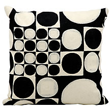 "kathy ireland by Nourison Circles and Squares Accent Pillow - 18""W x 18""H, 8803802"
