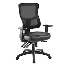 Ergonomic Leather Seat Task Chair, 8827556