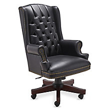McKinley Leather Wing Back Executive Chair, 8827727