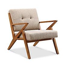 Zindi Tufted Fabric Lounge Chair , 8828154