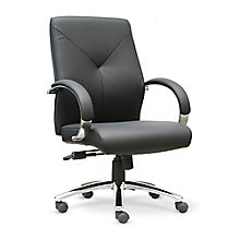 Leather Mid-Back Chair, 8823993