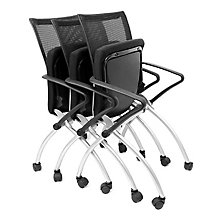 Black Mesh Back Nesting Chair, REN-2109