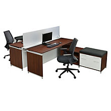"Modern Hi Low Benching Set with Divider - 66""W, 8801987"