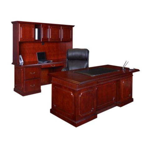 "Office suite with desk, 72""W credenza and hutch"