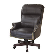 Barrington Traditional Leather Judges Chair, REN-9099L