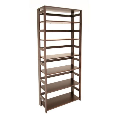 Empty bookcase in Mocha Walnut